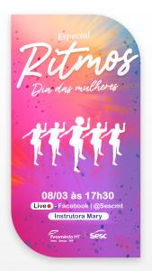 Live de Ritmos Dia das Mulheres @ Facebook do Sesc Mato Grosso