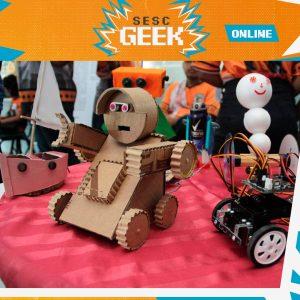 Oficina de Robótica - Programação Digital com Robô com André Albuquerque   Sesc Geek @ Google Meet